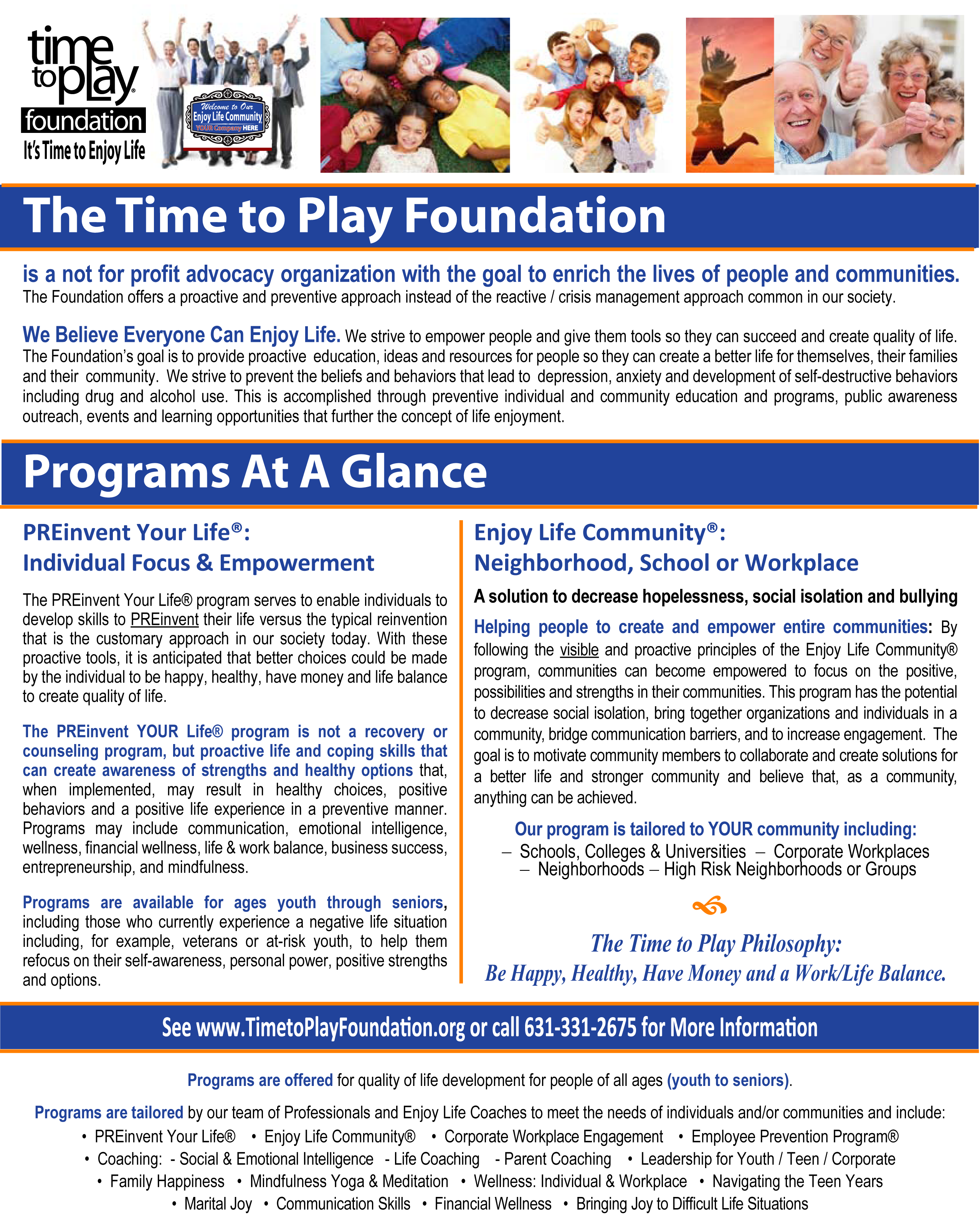 Time to Play Foundation – Time To Play