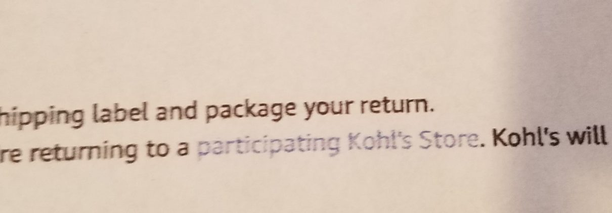 amazon returns at kohls
