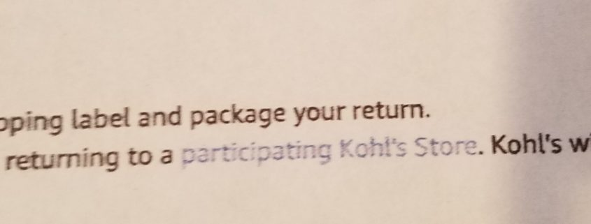 amazon returns at kohls