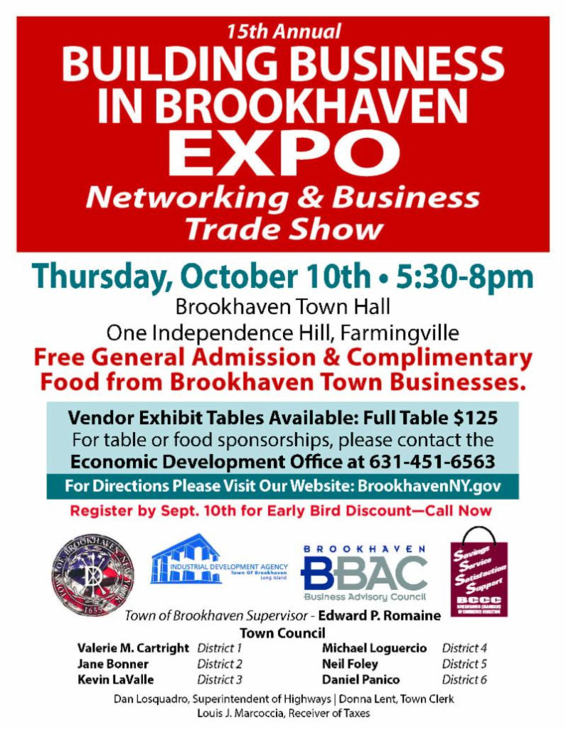 Brookhaven Business Expo flyer